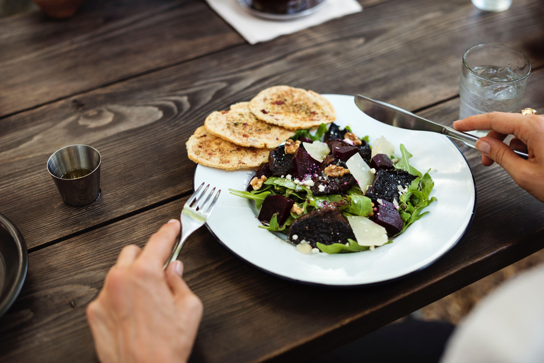 Nahaufnahme unserer leckeren Salate